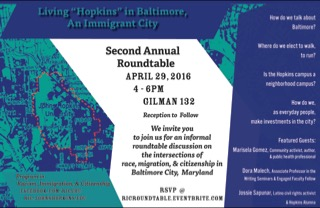 living hopkins in Baltimore 2016