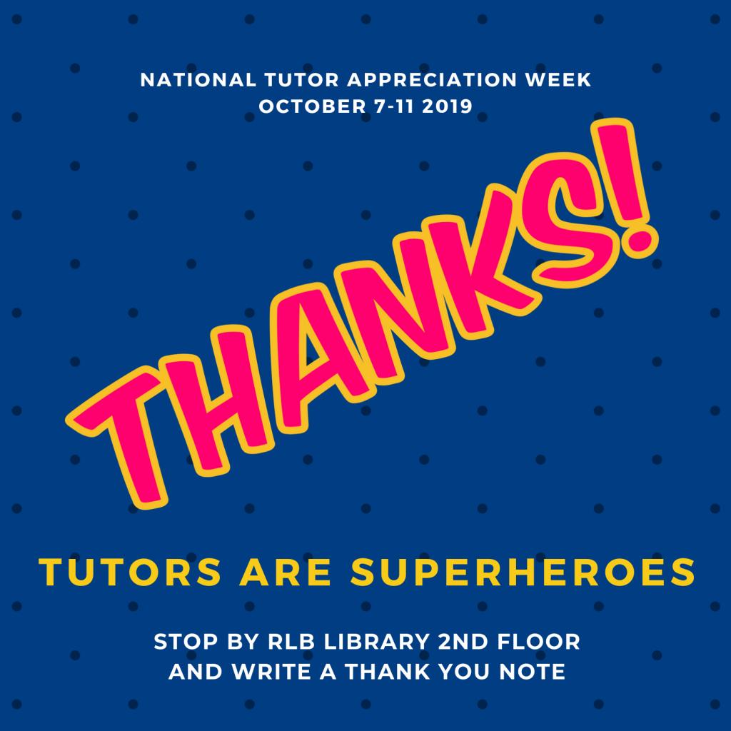 Thank you, superhero tutors!