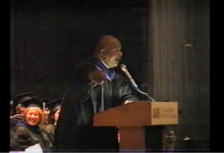 Image from Commencement ceremony recordings of Elijah Cummings