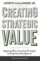 "Cover image of ""Creating Strategic Value"" ebook."