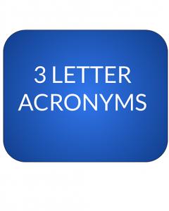 Jeopardy category 3 letter acronym