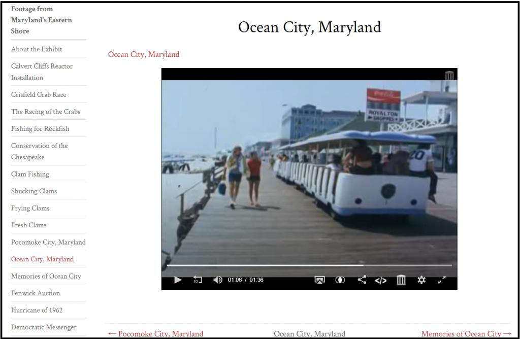 Views of ocean city from the digital exhibit
