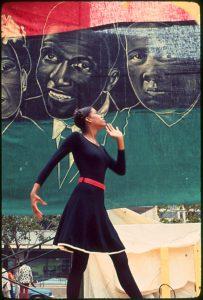 Member of the John Taylor Dancers performs at AFRAM