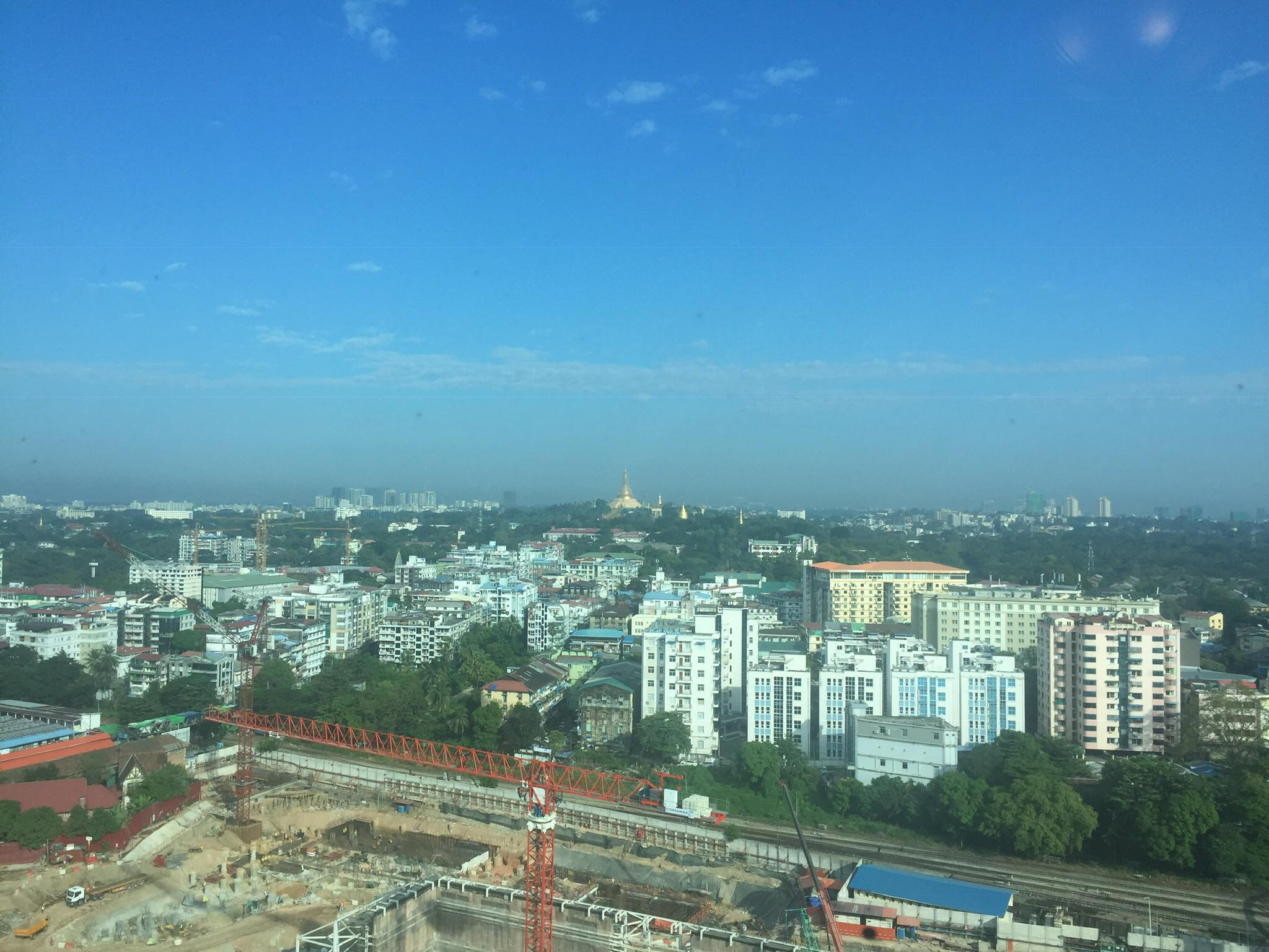 View of Yangon