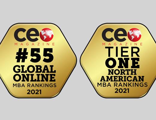 Award badges from CEO Magazine