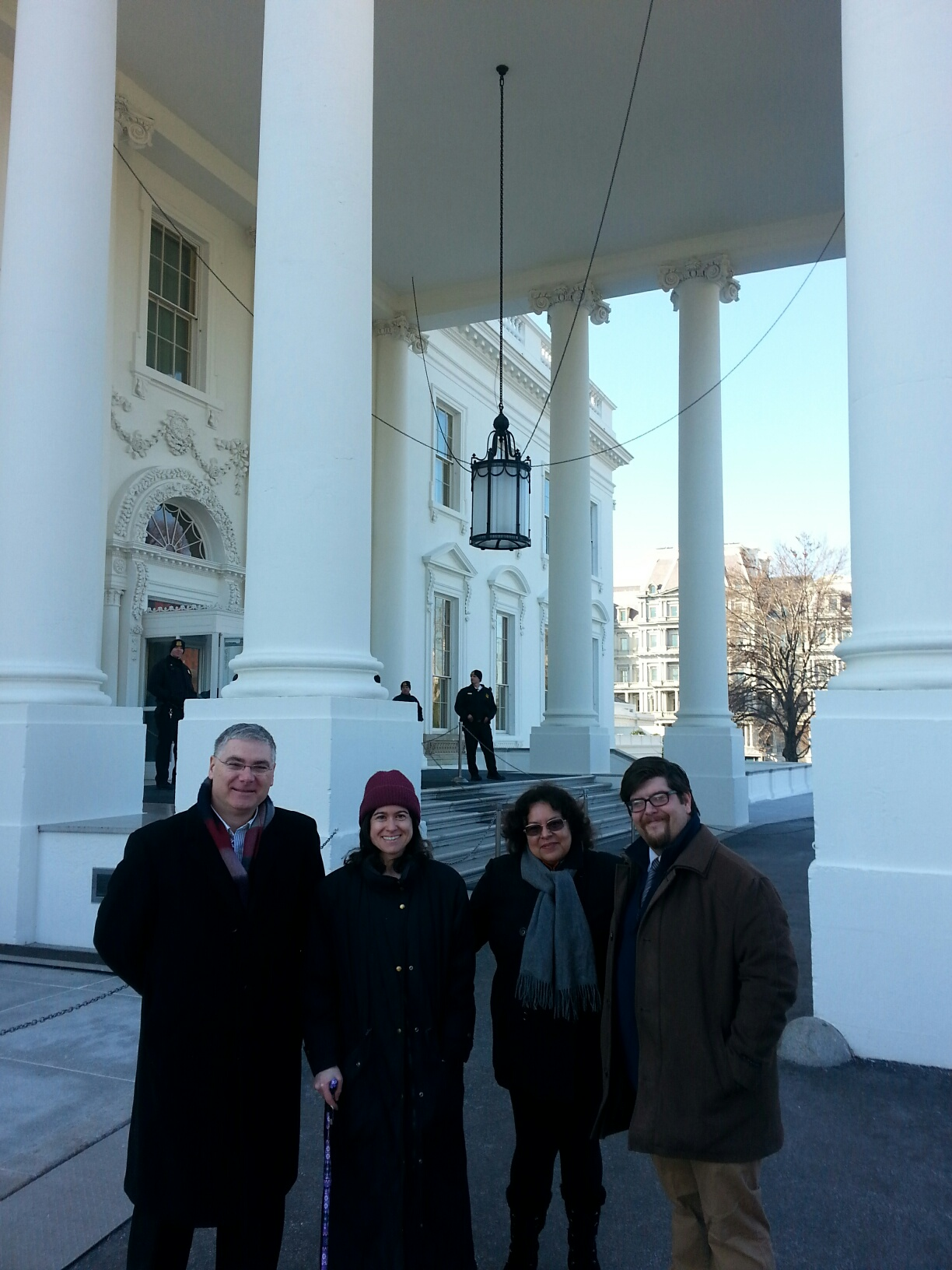"Eugene ""Sonny"" Moxley, Nicole Hudgins, Monique Koch, and Marshall Odell in front of the White House"