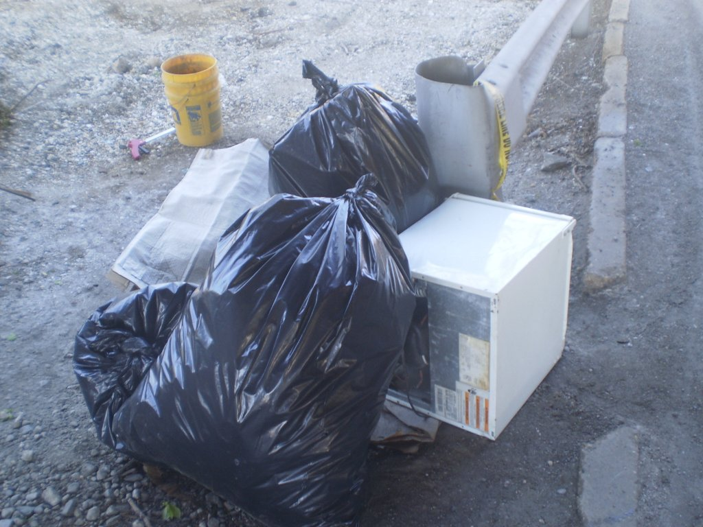 pile of trash with refrigerator (2)