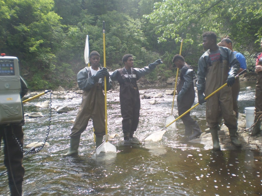 Electrofishing crew 5 15 15 small
